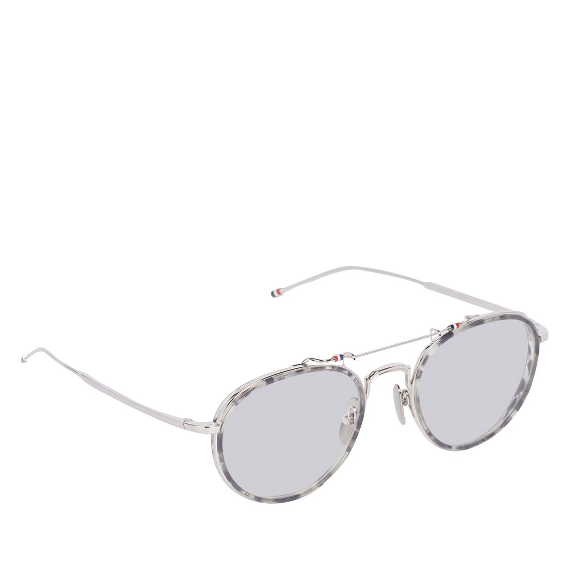 Thom Browne 53 Grey Tortoiseshell Oval Sunglasses Γυαλιά Ηλίου