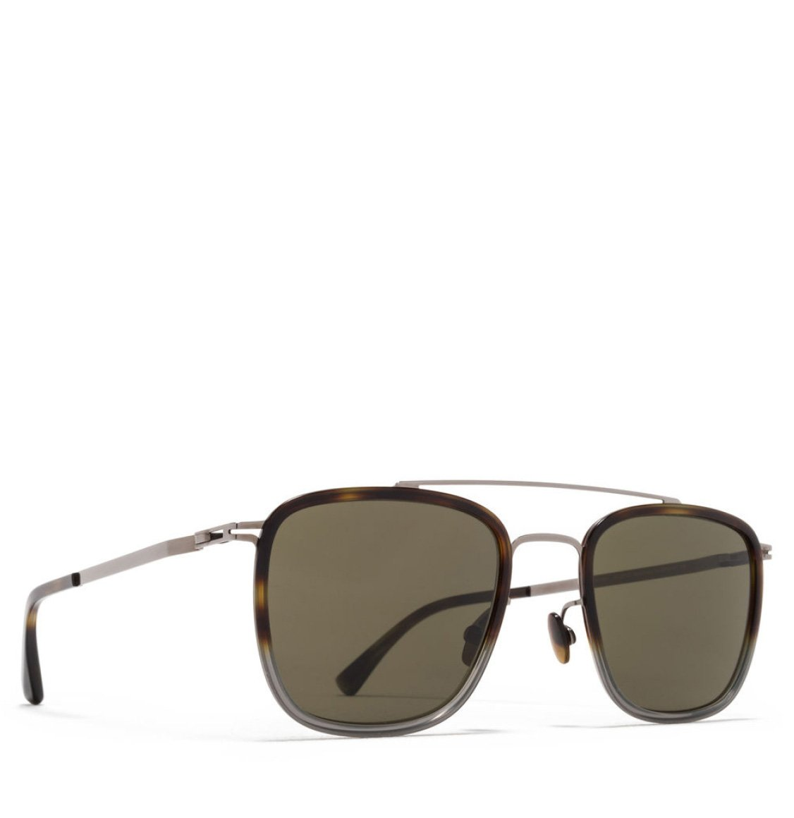 Mykita Aviator-Frame Shiny Graphite Sunglasses
