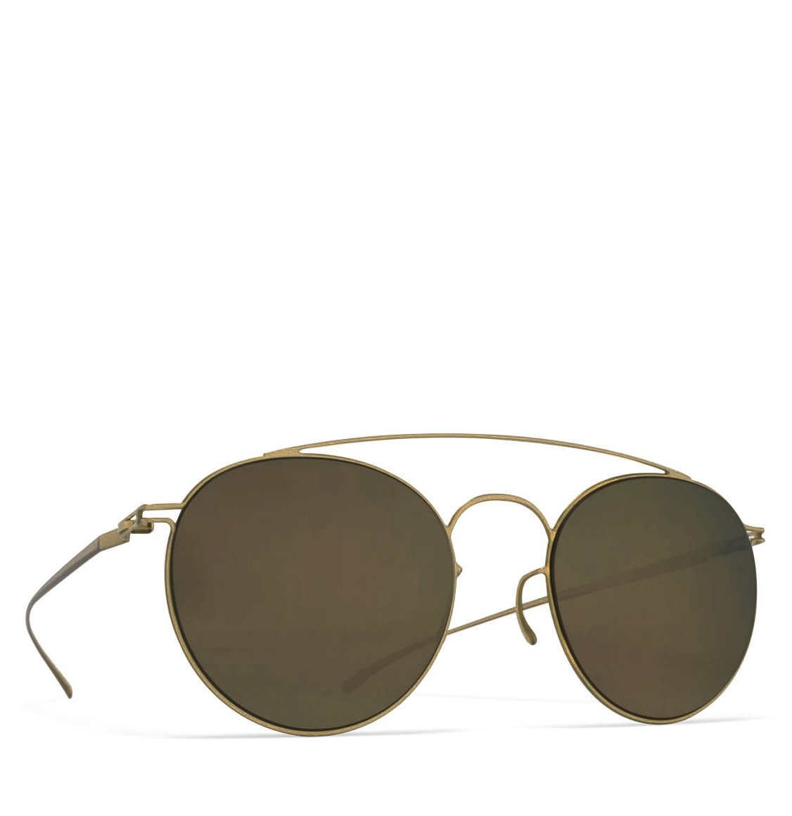 Mykita x Maison Martin Margiela Aviator-Frame Champagne Sunglasses