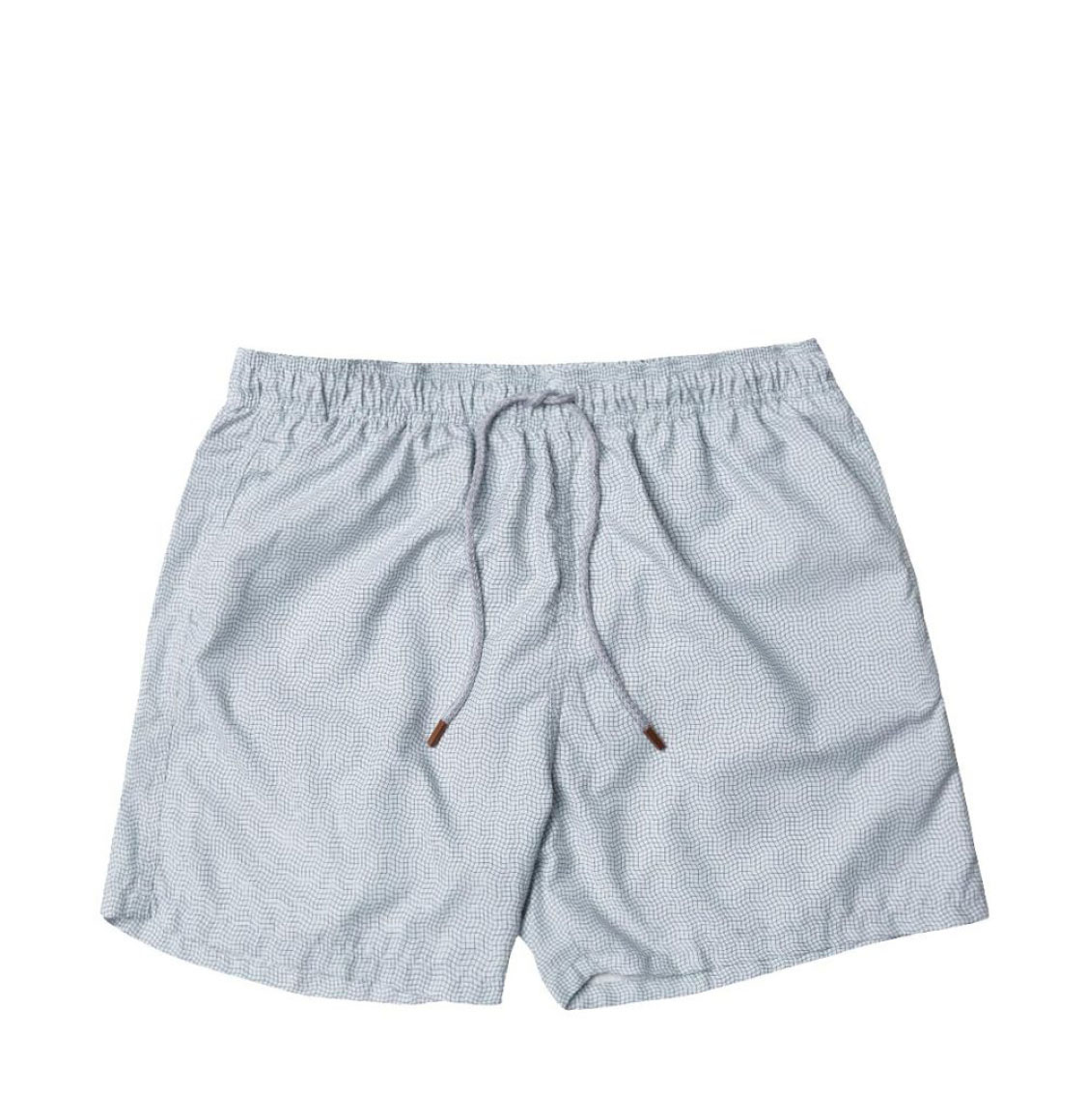 Retromarine Dizzy Grid Olive Swim Shorts