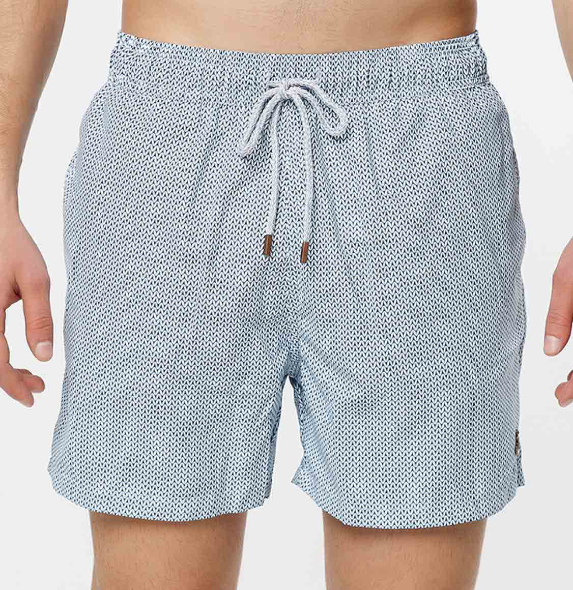 Retromarine Links Navy White Swim Shorts