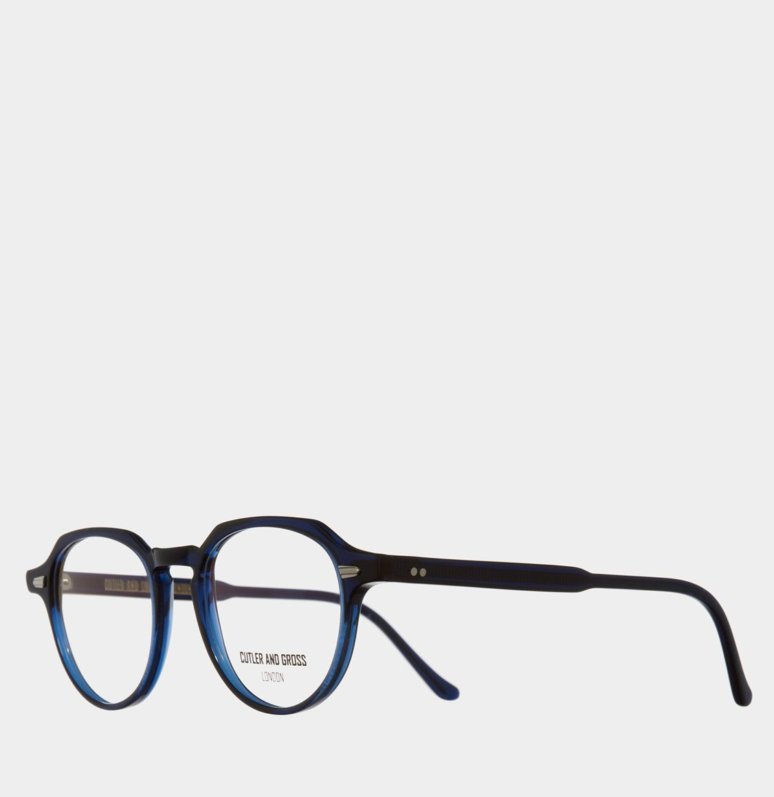 Cutler and Gross Hexagonal-Frame Navy Blue Acetate Γυαλιά Οράσεως