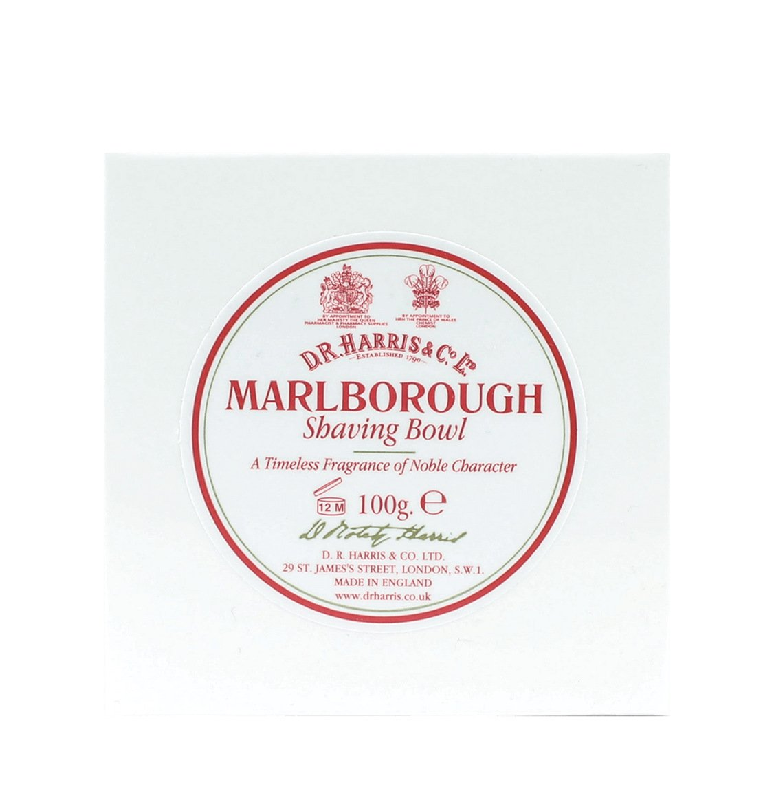 D R Harris Marlborough Shaving Soap Refill 100g