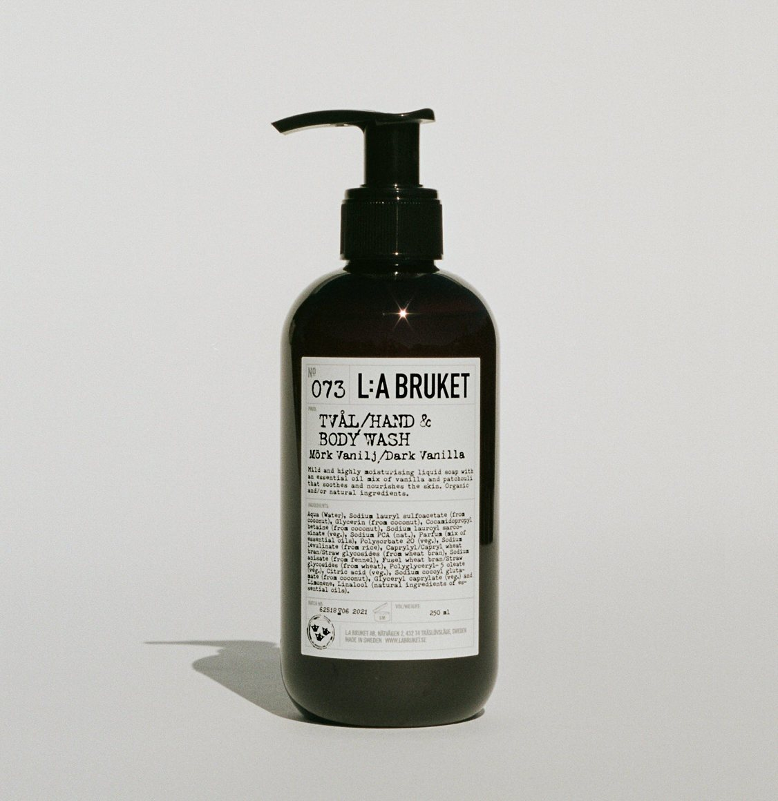 LA Bruket 073 Hand and Body Wash Dark Vanilla 250ml