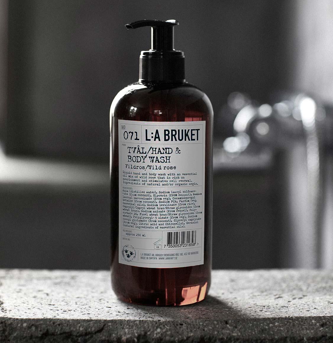 LA Bruket 071 Hand and Body Wash Wild Rose 450ml