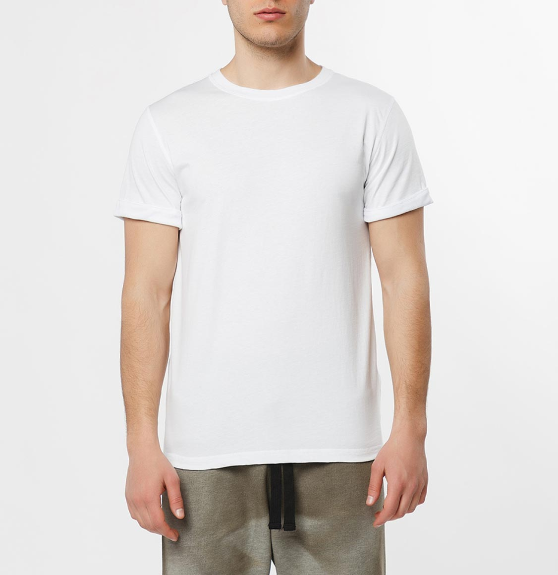 The Project Garments Cotton Jersey Trimmed Crew Neck T-Shirt White