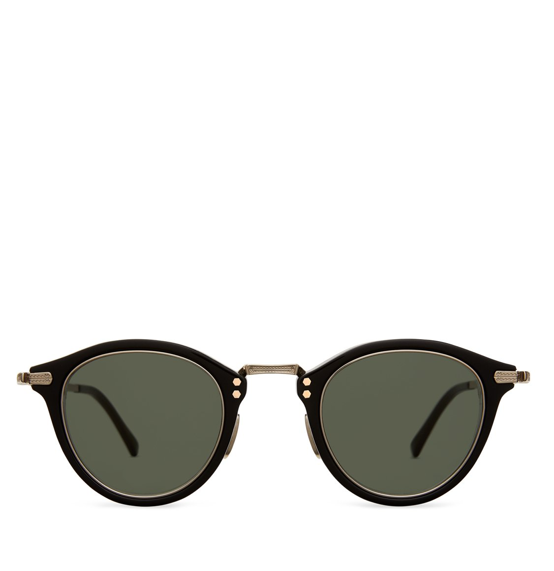 Mr Leight Rounded Black Γυαλιά Ηλίου