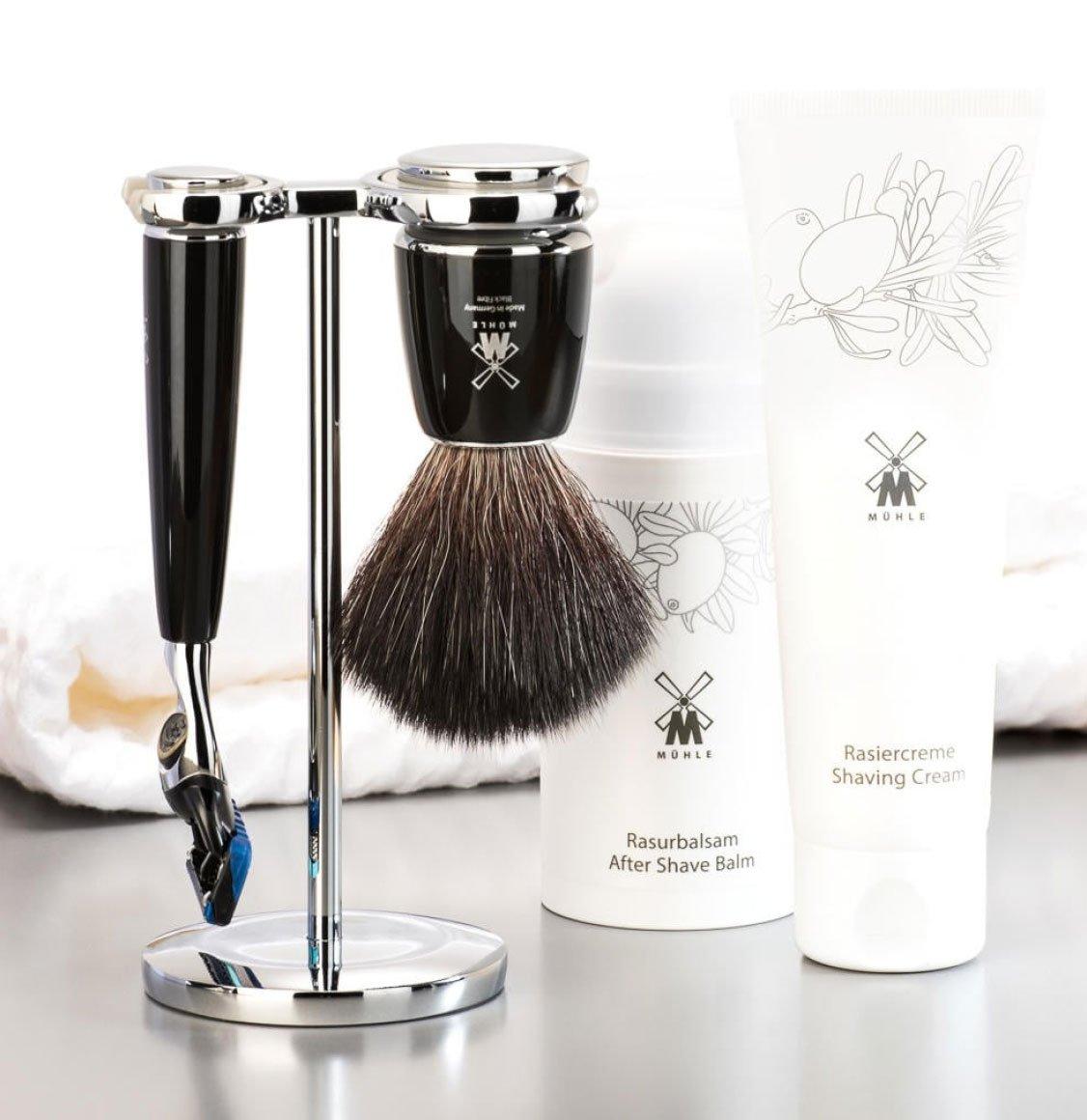 Muhle Black Fibre Shaving Brush