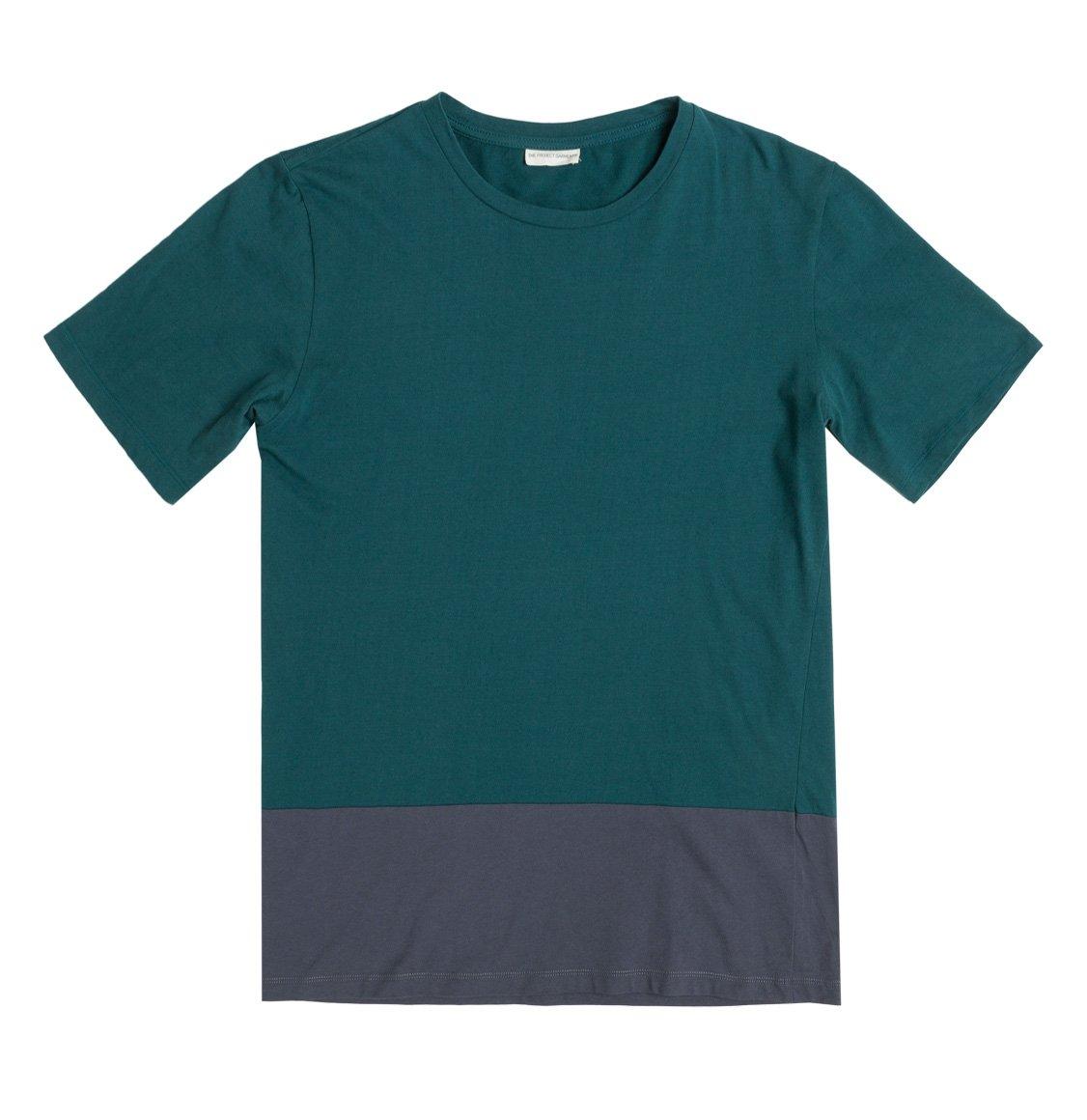 The Project Garments Color Block Crew Neck T-Shirt Green