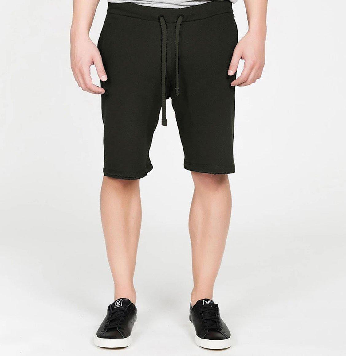 The Project Garments Distressed Lyocell Blend Jersey Shorts Khaki