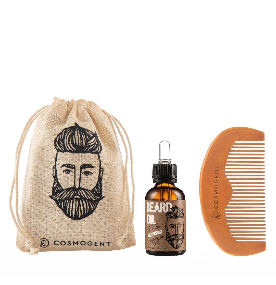 Cosmogent Mr. Cosmo Bundle Beard Oil 30ml And Beard Comb