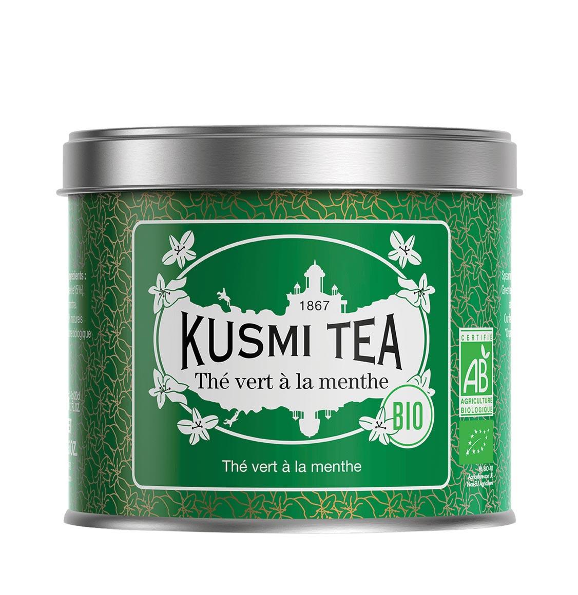 Kusmi Spearmint Organic Green Tea 100g