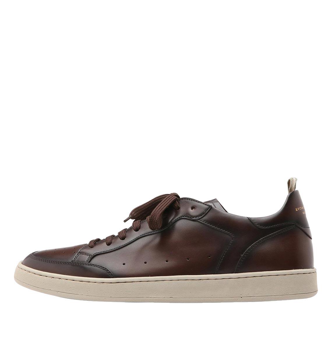 Officine Creative Kareem Lux Dark Brown Leather Sneakers