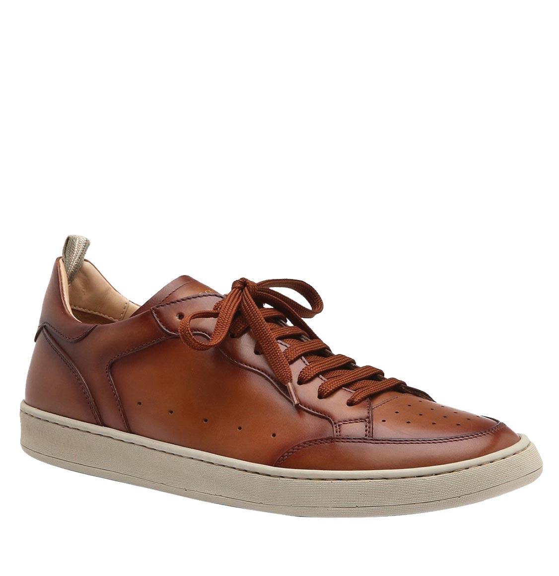Officine Creative Kareem Lux Tan Leather Sneakers