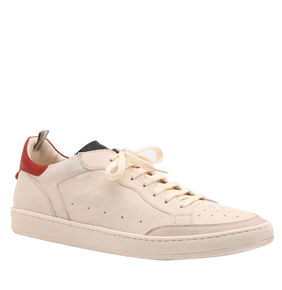 Officine Creative Kareem Ivory Leather Sneakers
