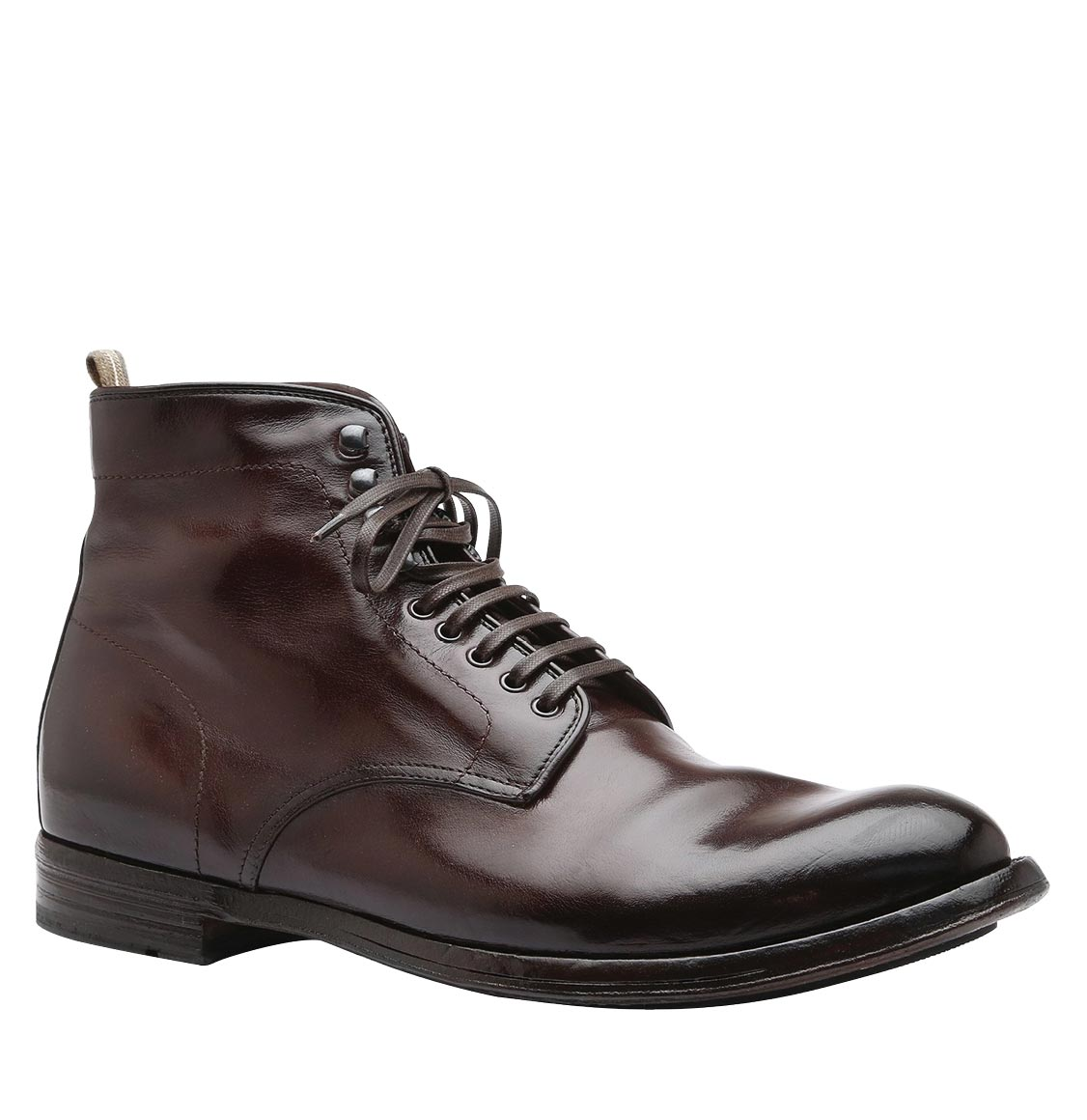 Officine Creative Anatomia Leather Ankle Boots Brown