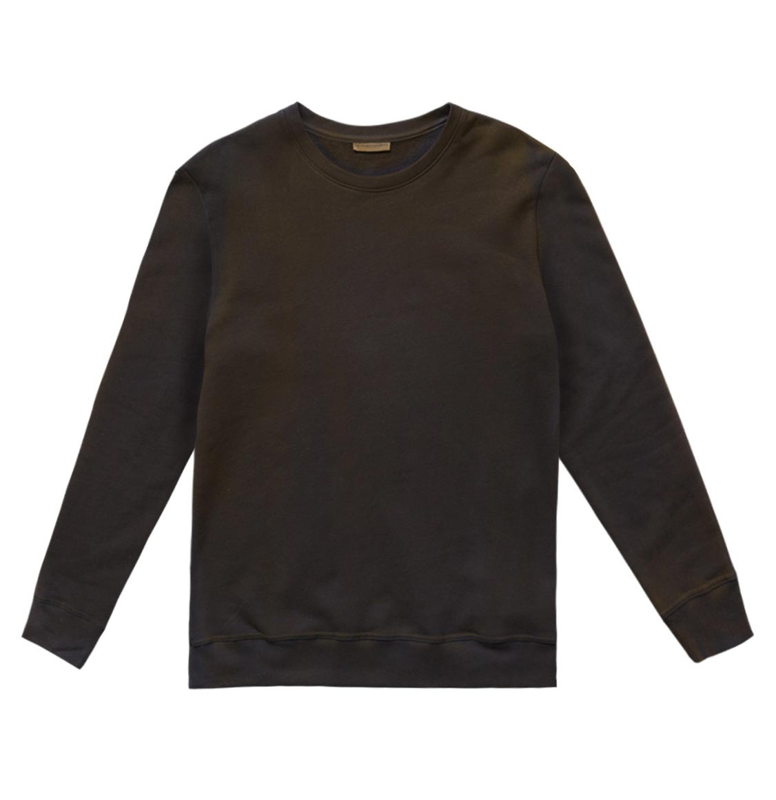 The Project Garments Acid Dye Organic Cotton Crew Neck Sweatshirt Meteorite