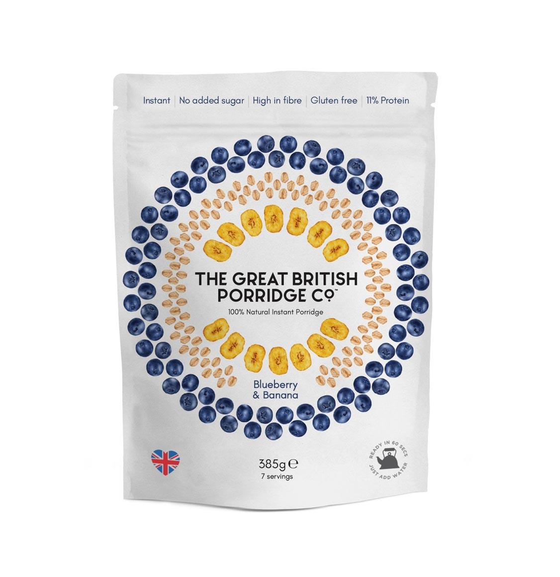 The Great British Porridge Blueberry Banana 385g