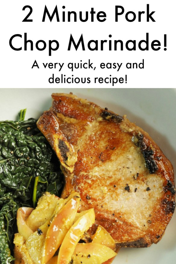 2 Minute Pork Chop Marinade! This is quick, easy, and delicious! #Marinade #PorkChop #MealIdeas