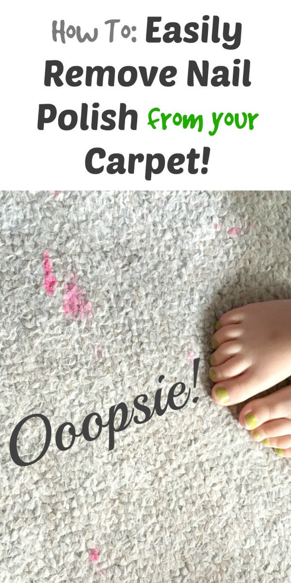 How to Easily Remove Nail Polish from your Carpet!