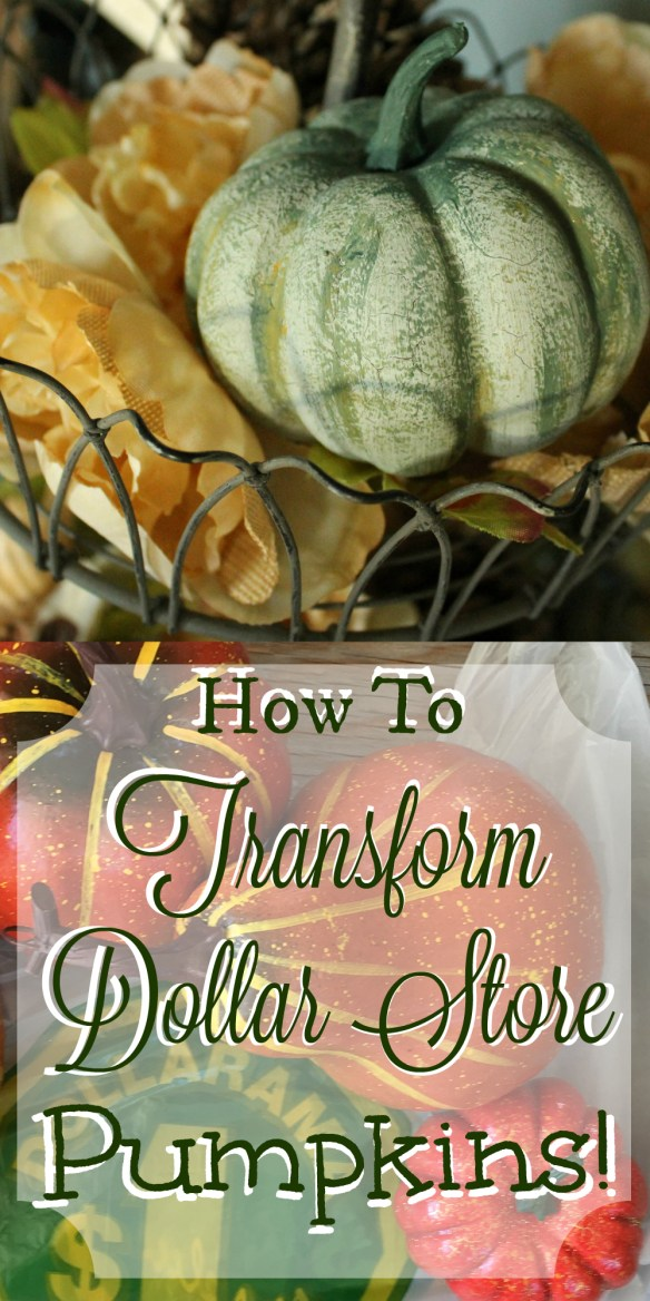 How To Transform Dollar Store Pumpkins!
