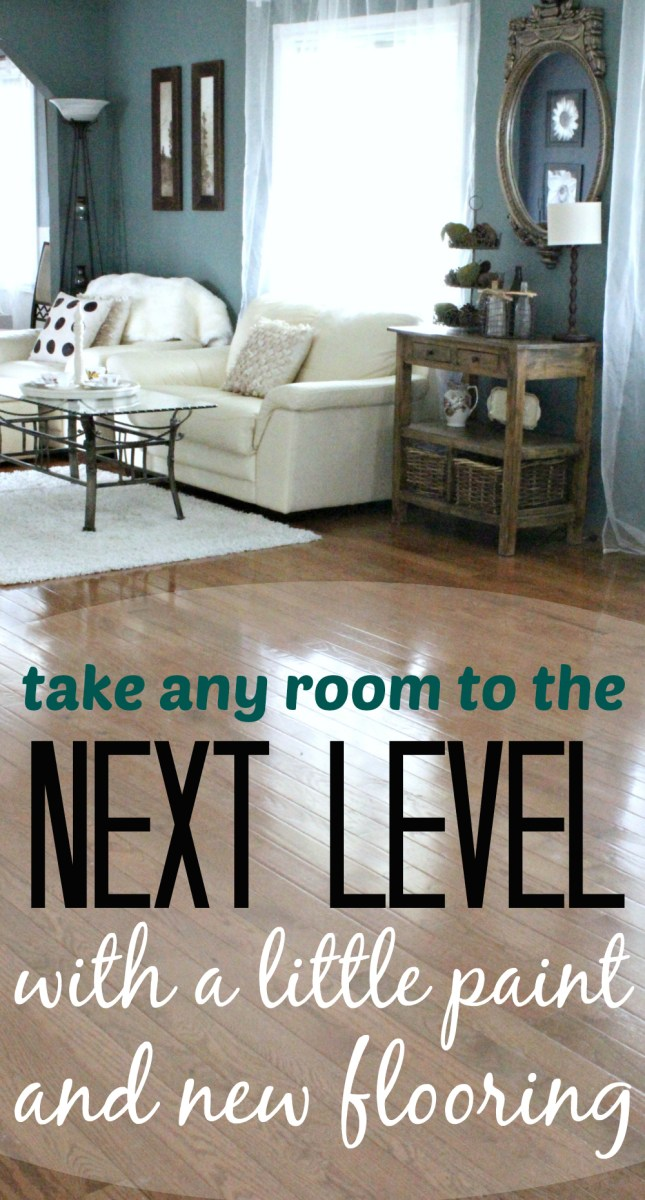 How a little bit of paint and new flooring can take any room to the next level!