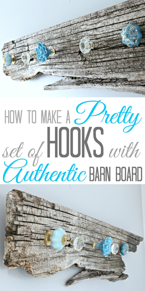 How to make a pretty set of Hooks with Authentic Barn Board