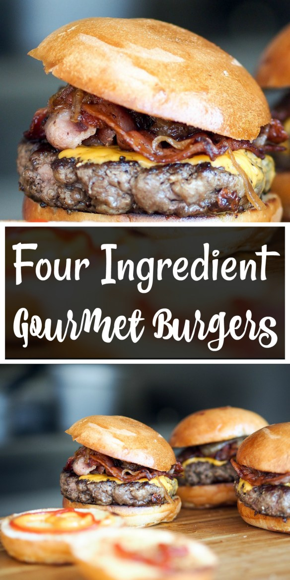 Four Ingredient Gourmet Burgers! (The quick and tasty burger hack, that you need to know about!)