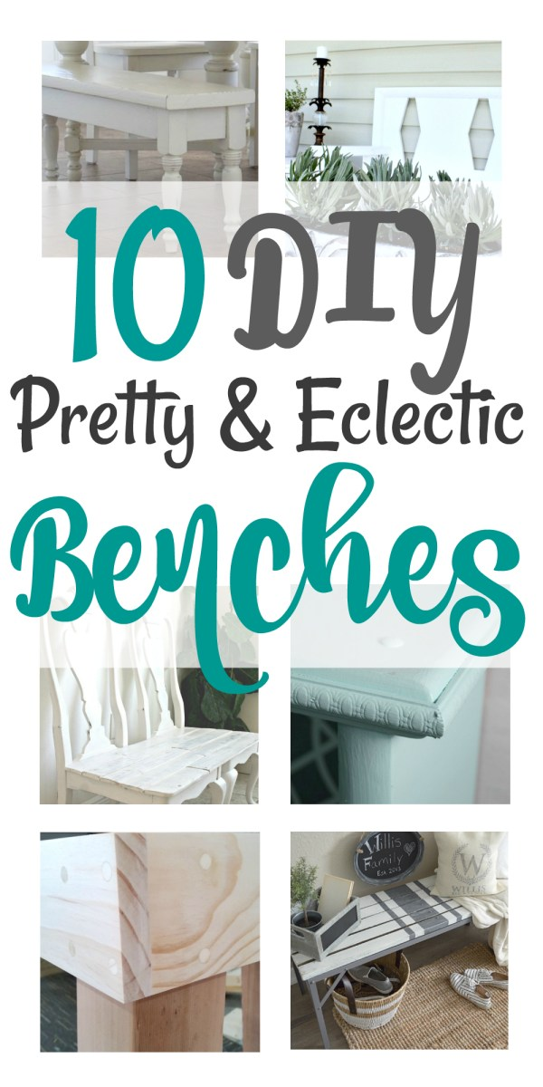 10 Pretty and Eclectic DIY Benches!
