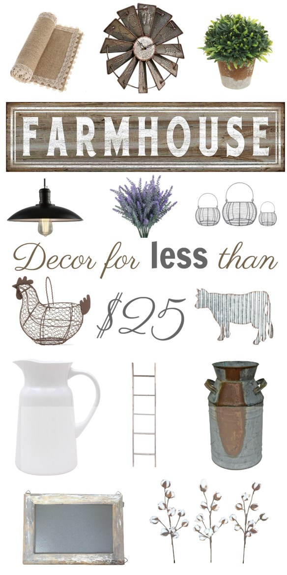 Gorgeous Farmhouse Decor for Less than $25!