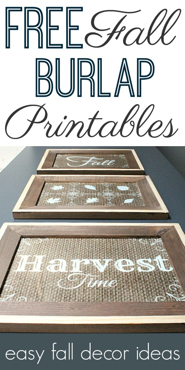 Get This Burlap Printable Set for Fall, for Free!