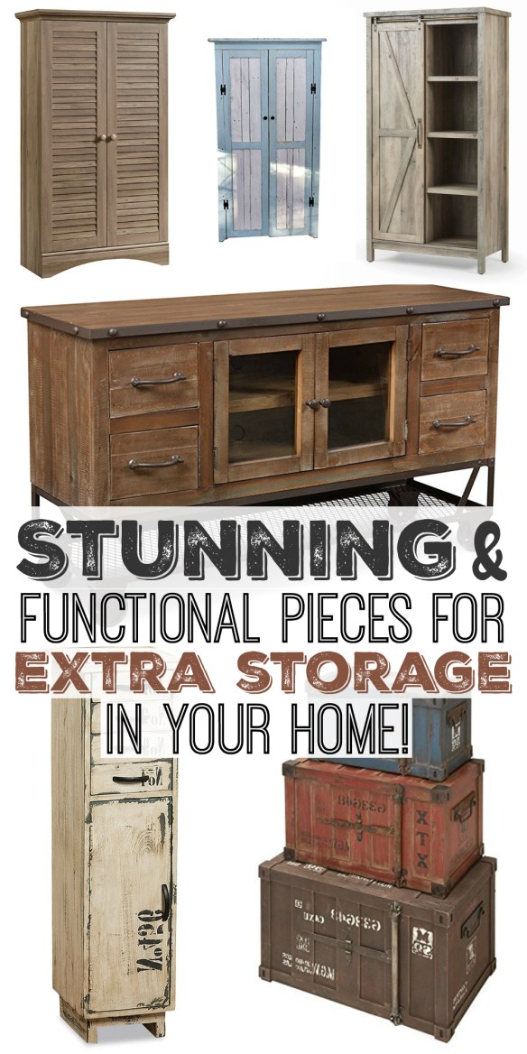 Stunning and Functional Pieces for Extra Storage in your Home!
