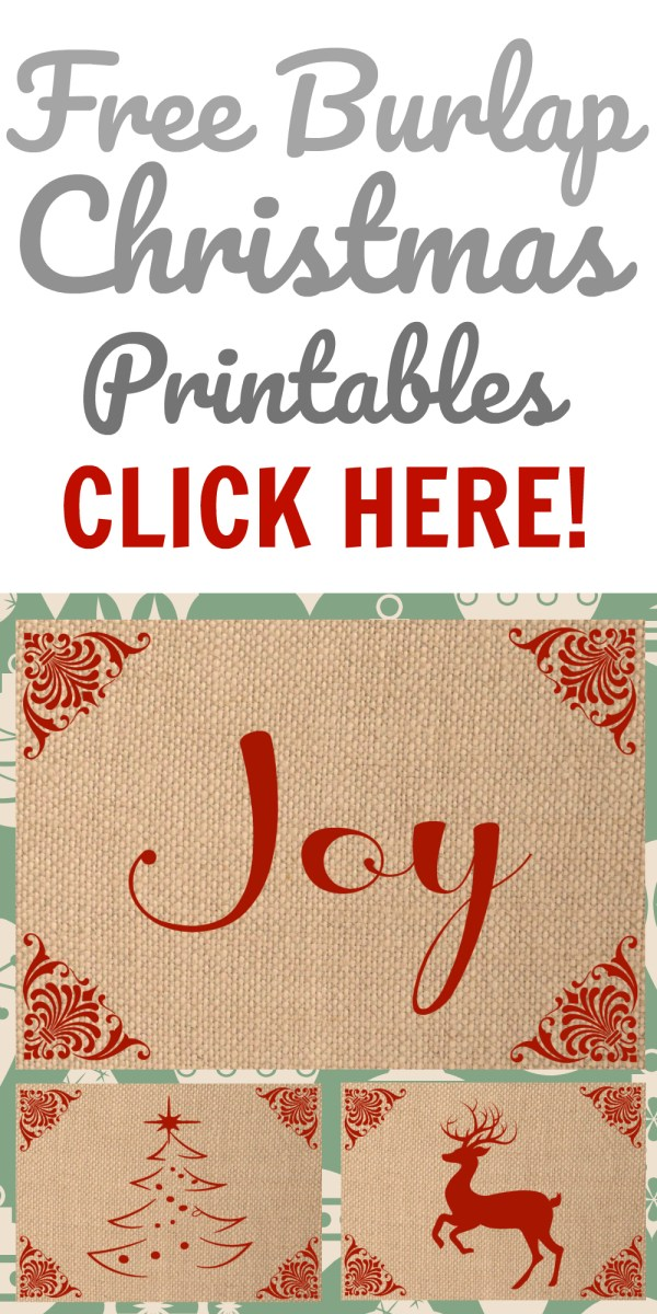 Free Printable Burlap Set for Christmas!