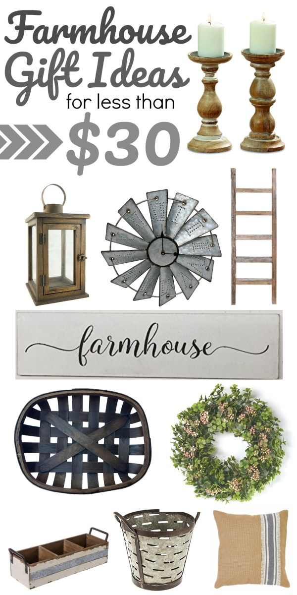 Rustic Farmhouse Style Gift Ideas Less than $30!