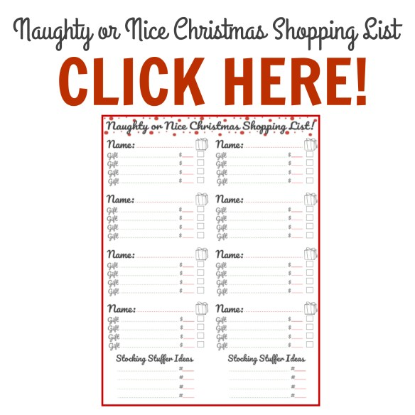 Free Printable: Naughty Or Nice Christmas Shopping List!