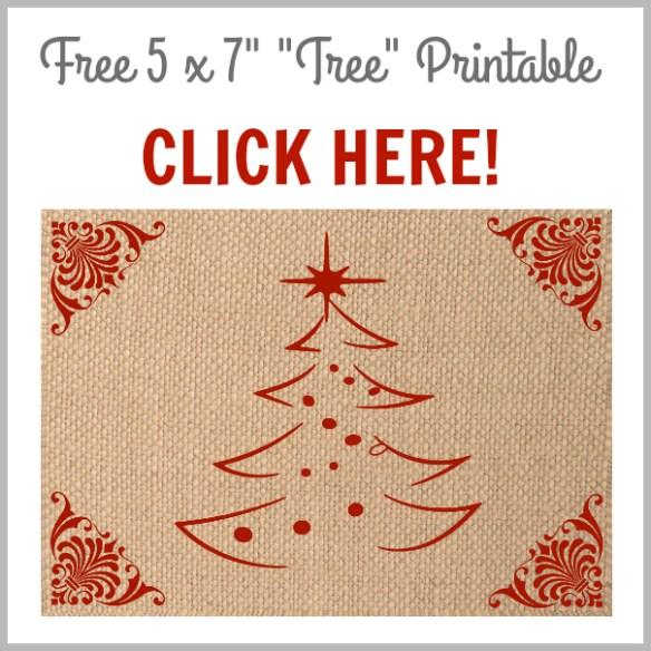 Gorgeous Free Printable Burlap Set for Christmas!