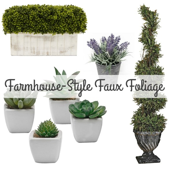 Beautiful Farmhouse-Style Faux Foliage for Your Home!