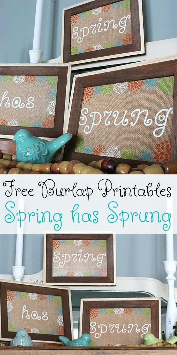 Get your very own copies of these super cute Spring Burlap Printables for Free!