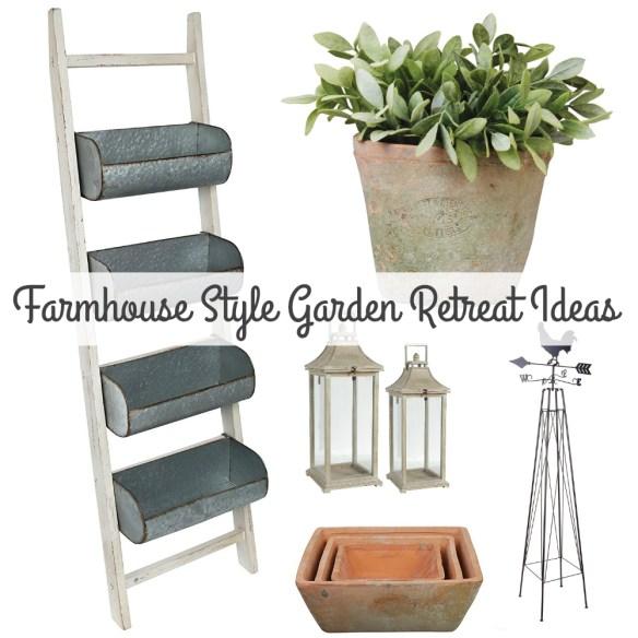 Rustic Farmhouse Style Garden Retreat Ideas!