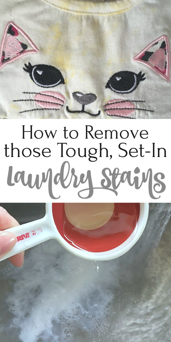 How to Remove those Tough, Set-In Laundry Stains
