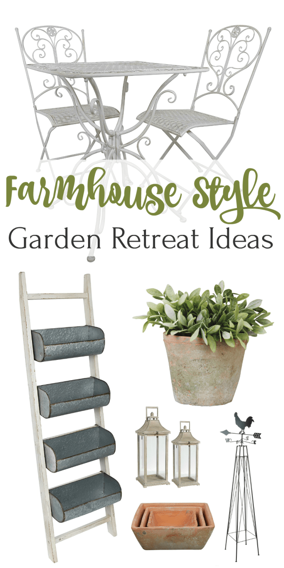 Rustic Farmhouse Style Garden Retreat Ideas!