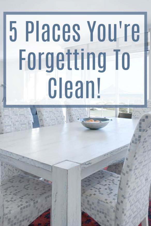 Here is a list of 5 of those tricky and slightly out of view areas in our home, that we sometimes forget to clean... Add these places to your weekly or monthly cleaning routine, and your home will surely feel a little more fresh and dust free!