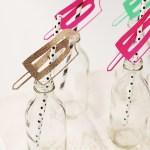 DIY \ Popsicle Drinking Straws