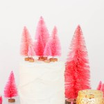 DIY \ Bottlebrush Tree Cake Toppers