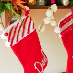 DIY \ Tinsel Typography Christmas Stockings