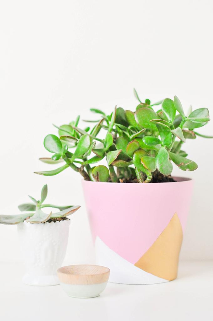 DIY Geometric Vase
