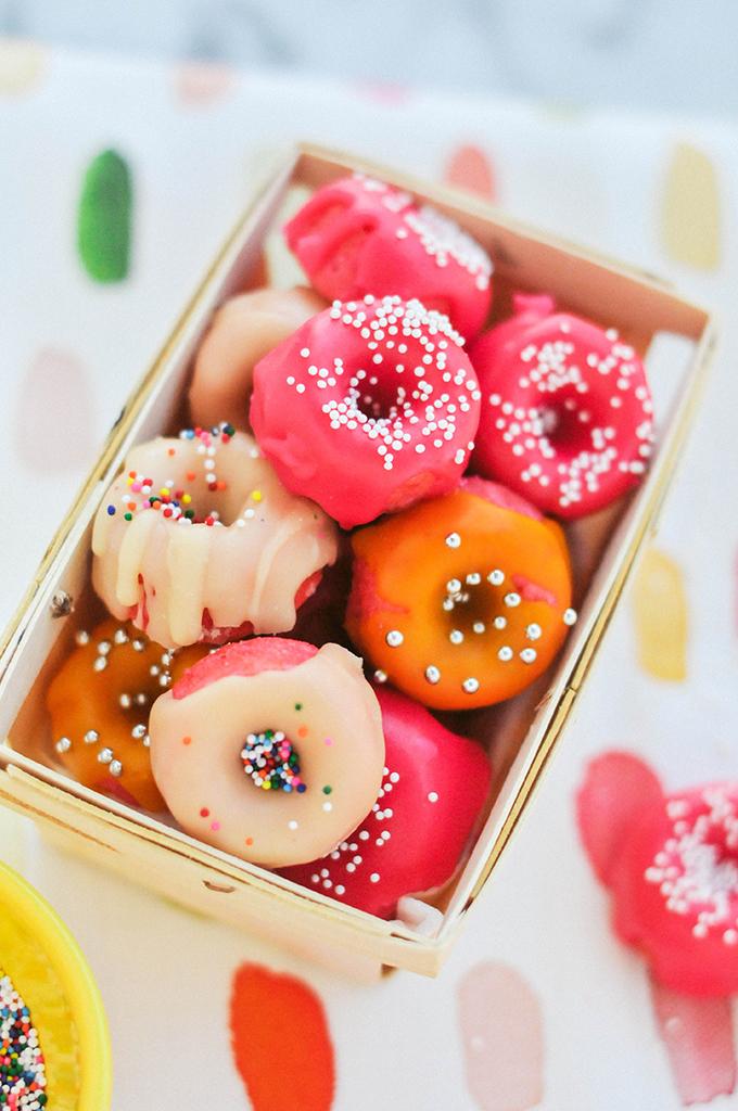 Taste It \\ Pink Strawberry Mini Donuts
