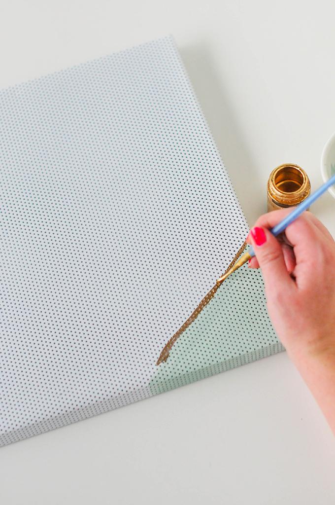 DIY Painted Magnet Board