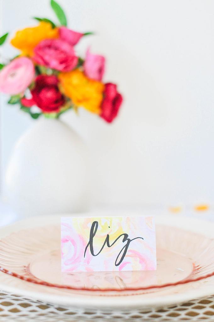 DIY Floral Wedding Stationery
