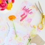 Printed \\ DIY Floral Wedding Stationery + Free Printables